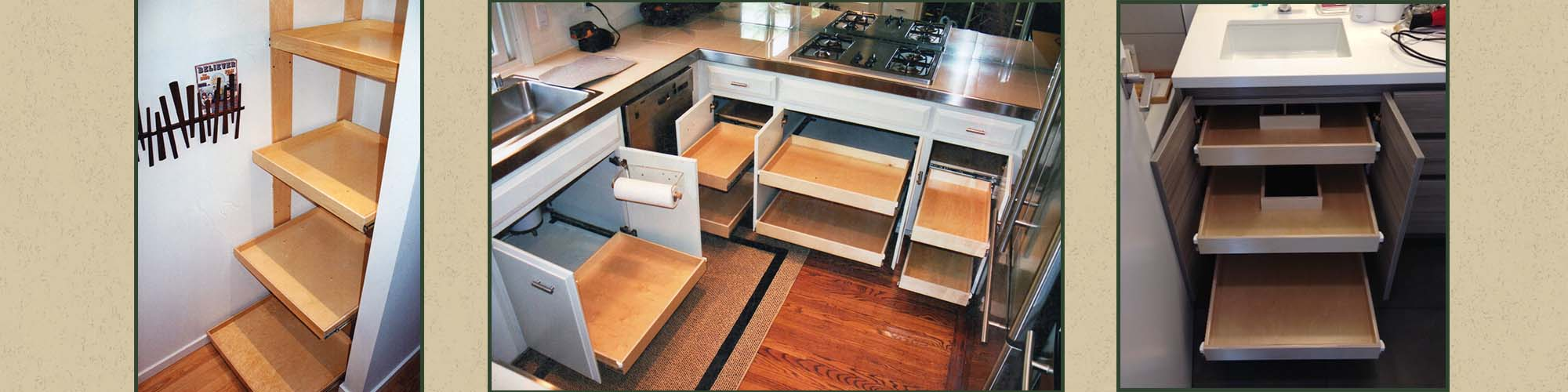 A Variety of Pull-Out Shelves | Drawer Replacement in San Francisco, CA